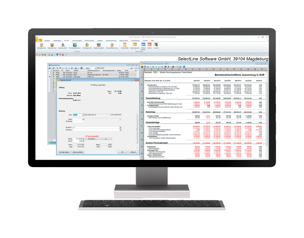 Anwendung Buchhaltungssoftware